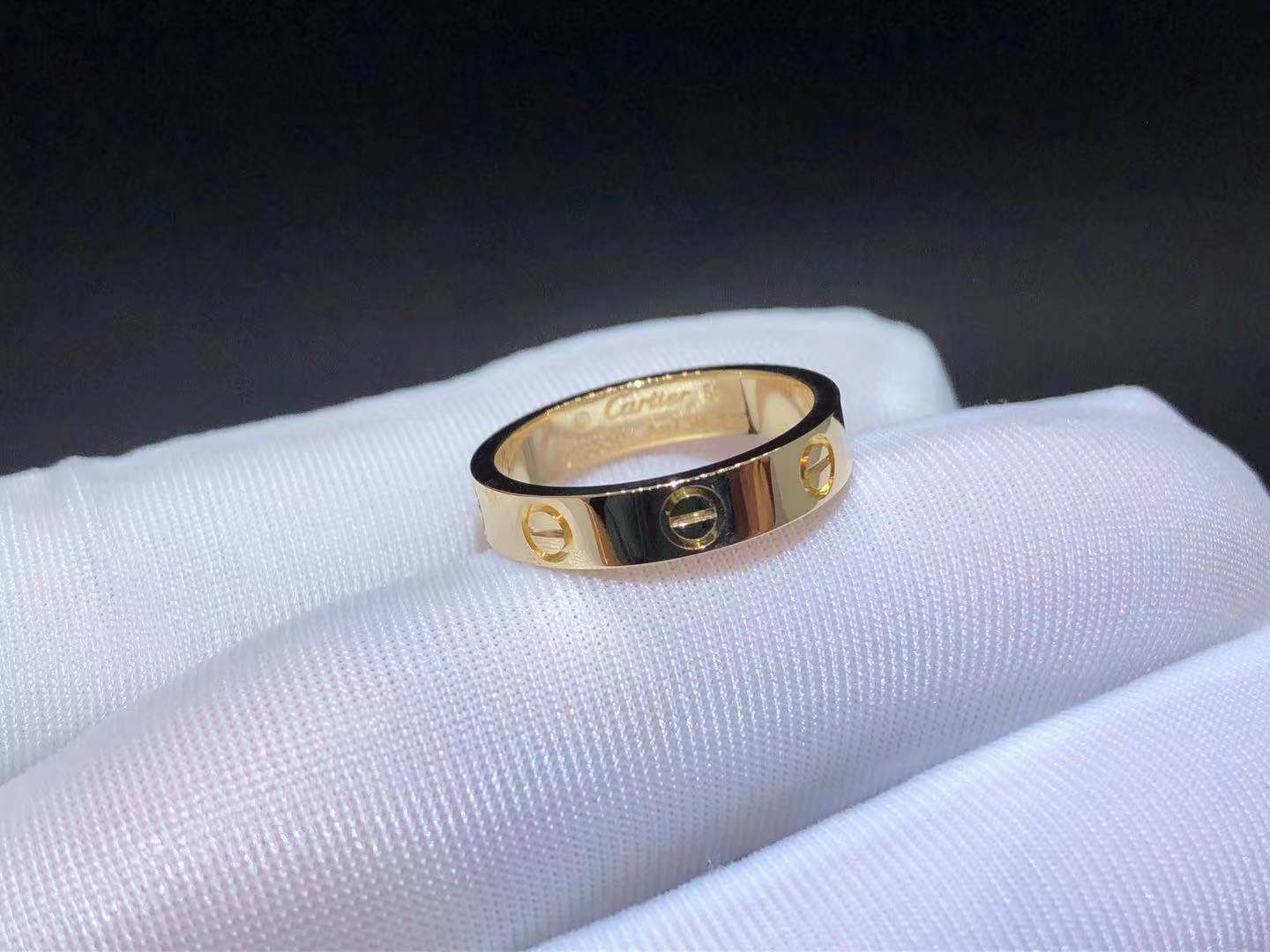 18K Yellow Gold Cartier 3.6MM Love Wedding Band Ring